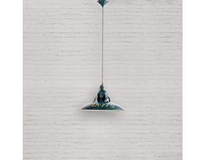 Lampada da soffitto Industrial  Dialma brown a prezzo Outlet
