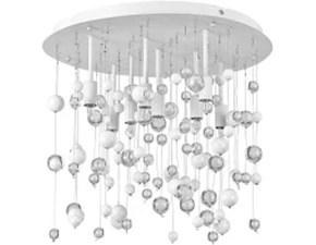 Lampada da soffitto stile Moderno Moonlight pl8 bianca Ideal lux scontato