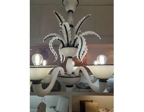 Lampada da soffitto Venezia bianco e nero Artigianale in Offerta Outlet