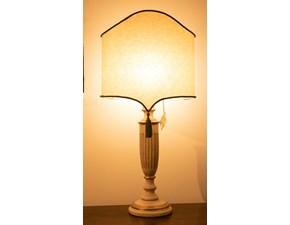 Lampada da tavolo Artigianale Lampada artigianale stile fiorentino Bianco a prezzi outlet