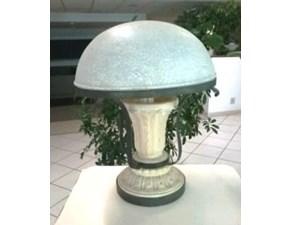 Lampada da tavolo Artigianale Lampada in travertino e ferro stile Classica a prezzi outlet