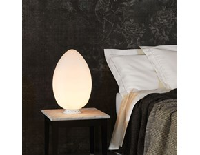 Lampada da tavolo Fontana arte uovo piccolo Fontana arte a prezzo Outlet