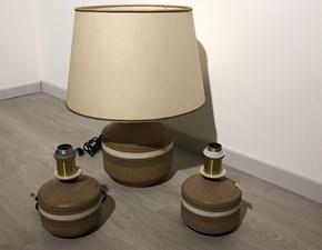 Lampada da tavolo I tre Greta Ambra a prezzi outlet