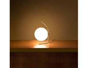 Lampada da tavolo in metallo Ic lights table 1 low Flos a prezzo Outlet