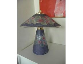 Lampada da tavolo in vetro Chanel fiori Artigianale a prezzo scontato