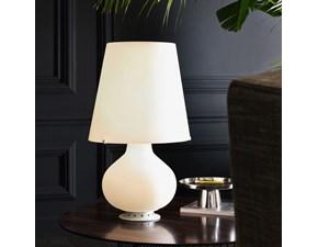 Lampada da tavolo in vetro Fontana 1853/1 grande Fontana arte in Offerta Outlet