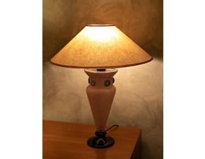 Lampada da tavolo in vetro Lampada murano/ scavo rosa  Artigianale in Offerta Outlet