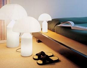 Lampada da tavolo in vetro O-luce atollo 237 bianco O-luce a prezzo Outlet