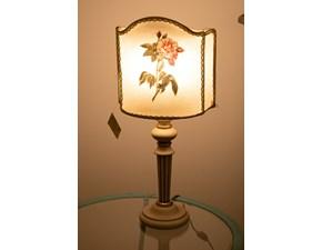 Lampada da tavolo stile Classica Lampada artigianale stile fiorentino con rosa Artigianale a prezzi outlet