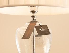 Lampada da tavolo stile Classica Pluton vetro trasparente Euroluce scontato