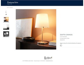 Lampada da tavolo stile Moderno 3247 grande lampada da tavolo fontana arte Fontana arte in saldo
