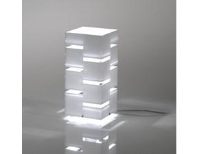 Lampada da tavolo Vesta Design mod. QUADRA media a prezzo Outlet