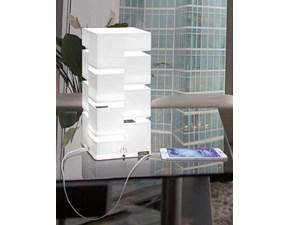 Lampada da tavolo Vesta Design mod. QUADRA piccola usb a prezzi outlet