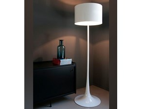 Lampada da terra in metallo Spun light floor Flos a prezzo Outlet