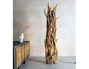 Lampada da terra Lucignolo Nature design con un ribasso esclusivo