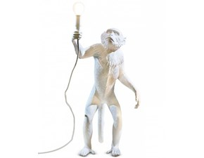Lampada da terra Seletti Monkey lamp standing Bianco in offerta