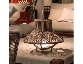 Lampada da terra stile Design Tribal lampada led in corda marina  Talenti outdoor in saldo