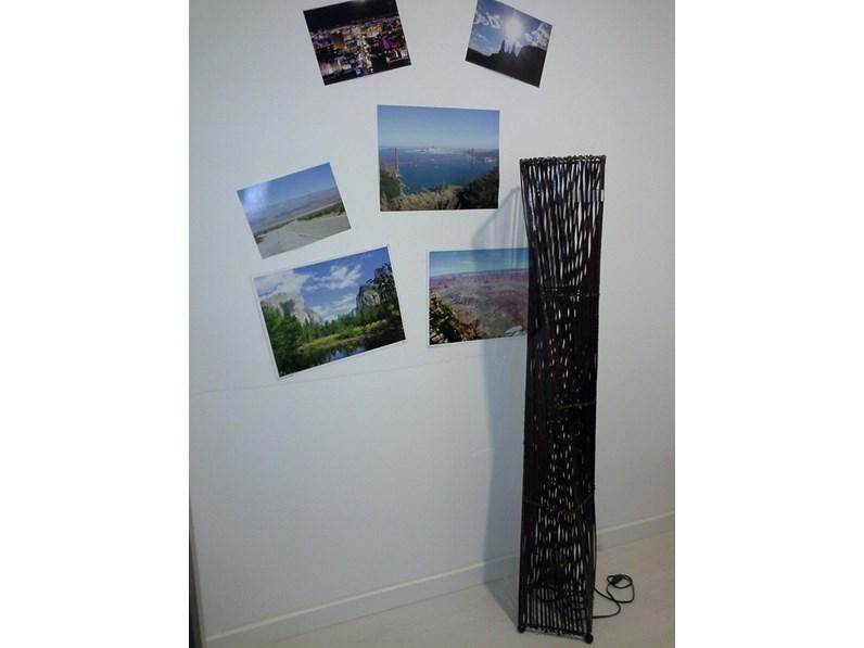 Lampada in legno intrecciato for Zanotti arredamenti