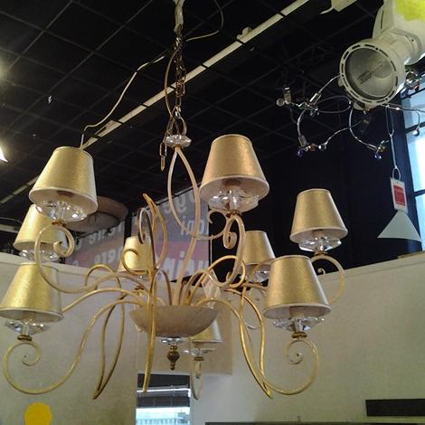 lampadario con paralumi : Lampadario a 9 luci con paralumi - Illuminazione a prezzi scontati