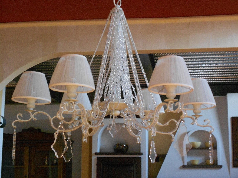 Lampadario con pendenti baga cristallo scontato del 30 for Lampadari pendenti