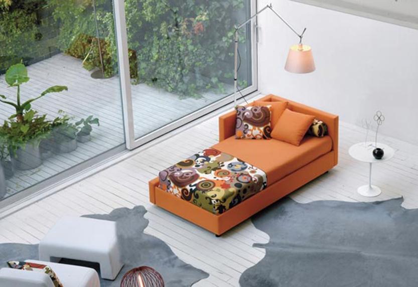 Axil letto vinci singolo moderno imbottiti letti a - Ovvio divani letto ...