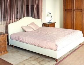 Bolzan letto imbottito ecopelle bianco avorio beige