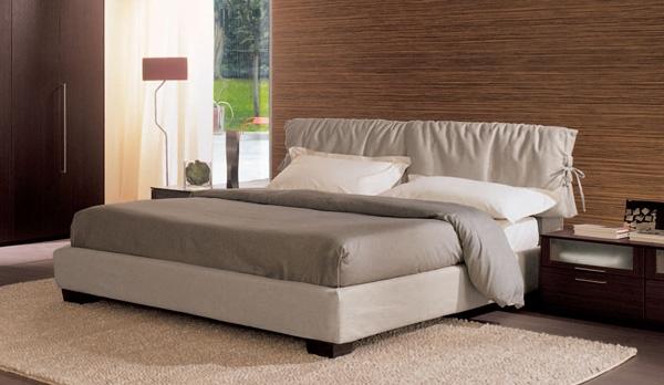 Fiocco letto imbottito con contenitore letti a prezzi for Letti in tessuto con contenitore