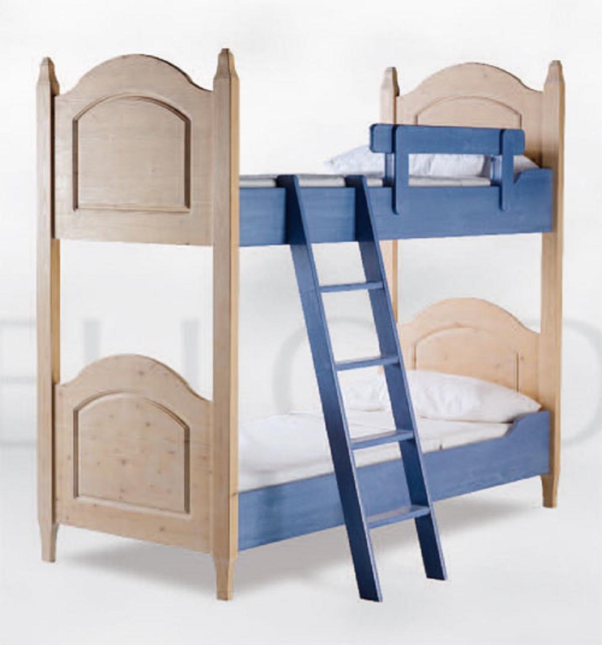 Leto a castello completo in legno massello - Letti a prezzi scontati