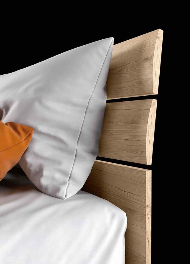 Letto a 2 piazze con finitura legno nuovo a prezzo - Letto 2 piazze ...