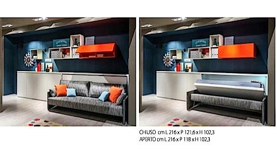 Clei letto kali sofa 39 90 39 a prezzo scontato letti a - Letto a scomparsa clei prezzi ...