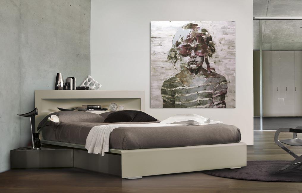 venduto letto ad angolo mod artik di fimes finitura letto laccato ...