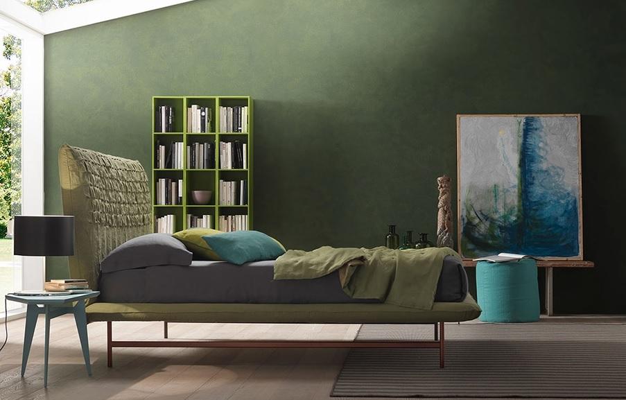 Letto bolzan sheen light imbottito design moderno scontato for Design scontato