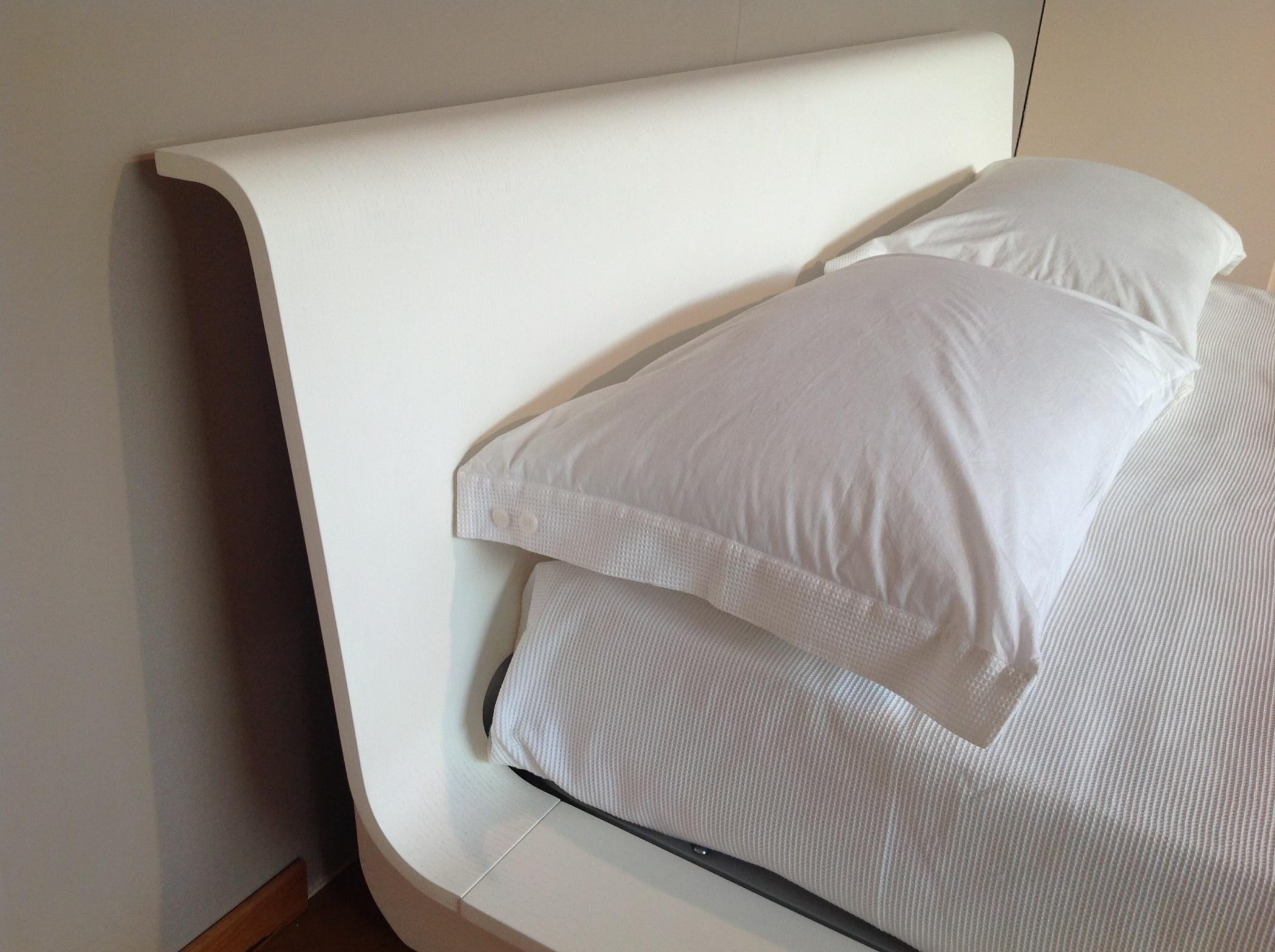 Testate letto legno bianco duylinh for - Testate letto con cuscini ...