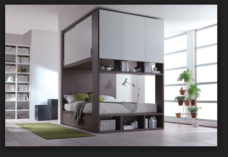 letto contenitore con armadio integrato dielle prezzo