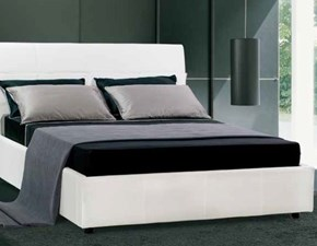 letto in ecopelle bianca md work srl