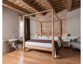 LETTO Country- chic in teak massello Outlet etnico in OFFERTA OUTLET