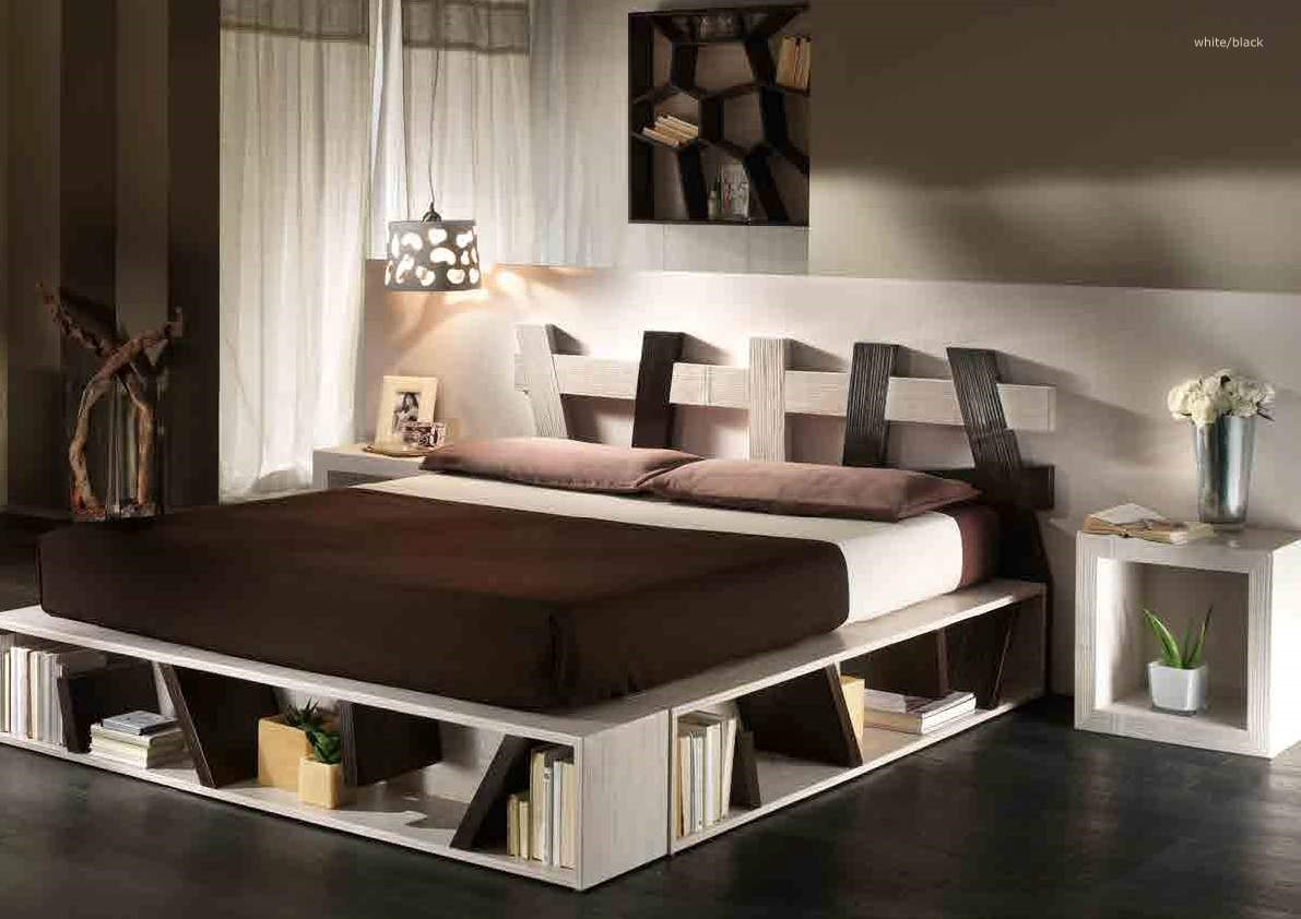 letto bortoli letto cross white/black - letti a prezzi scontati - Arredamento Moderno Giapponese