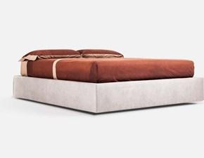 Letto design con contenitore Giroletto sommier vari tessuti e pelli contenitore Md work a prezzo scontato