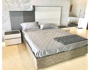 Letto design con contenitore Krea - letto contenitore con boiserie Tomasella a prezzo ribassato