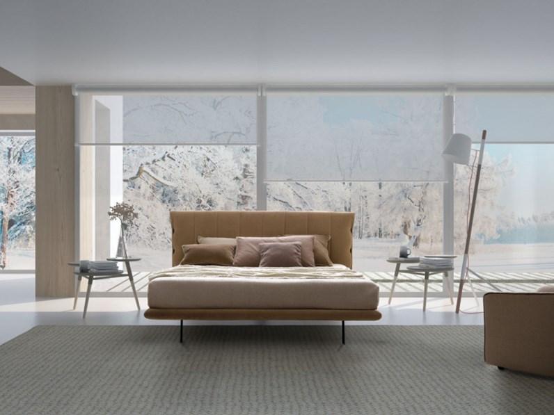 Letto design con giroletto sherman lecomfort a prezzo scontato for Outlet letti design