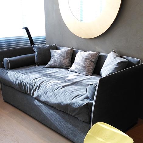 Letto divano gervasoni in tessuto con secondo letto - Divano letto in tessuto ...