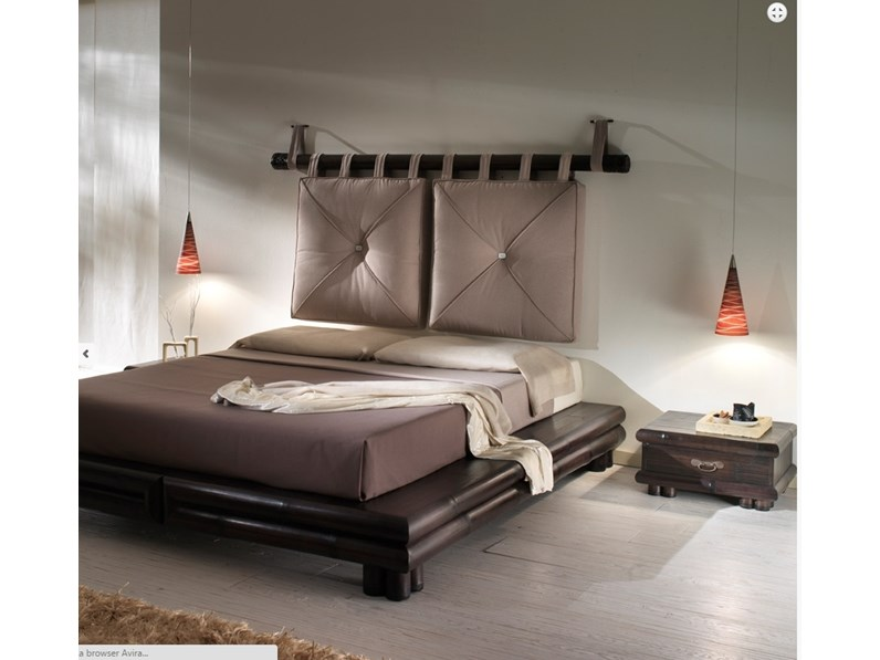 LETTO ETNICO OUTLET CON CUSCINI