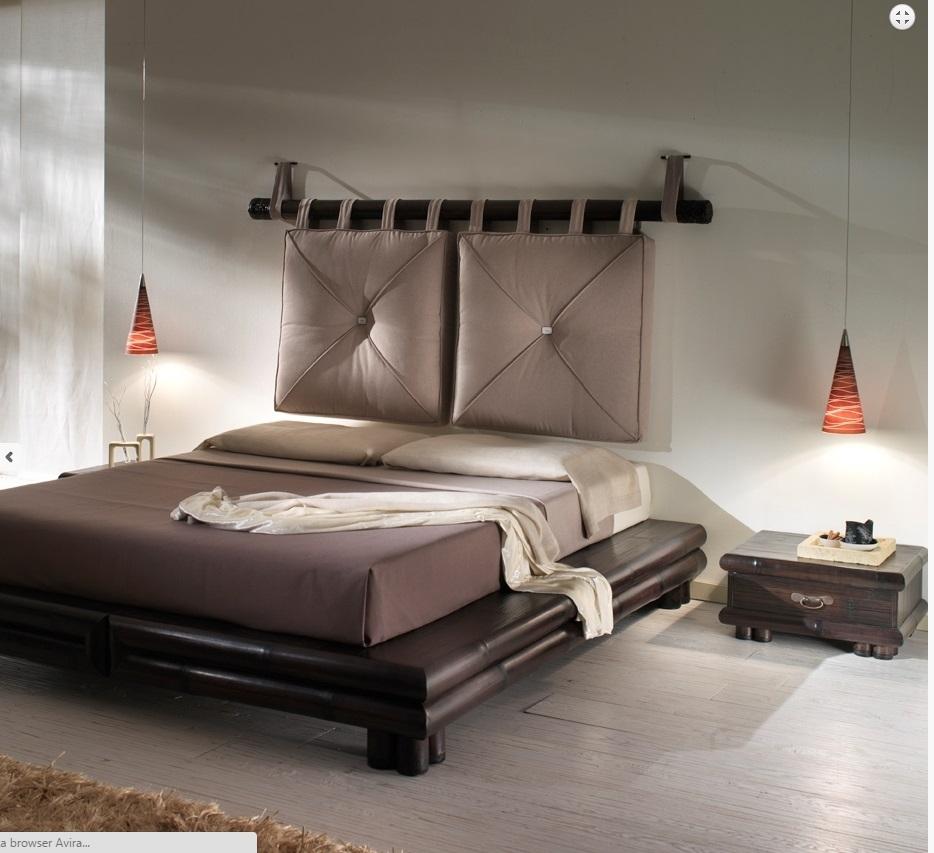 Letto etnico outlet con cuscini letti a prezzi scontati - Testate letto con cuscini ...