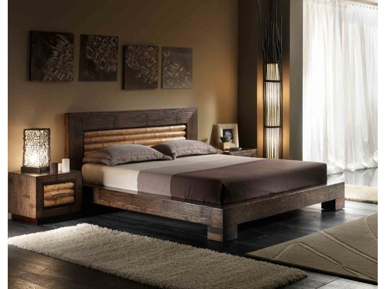 letto etnico tiger rumba matrimoniale in offerta nuovimondi outlet