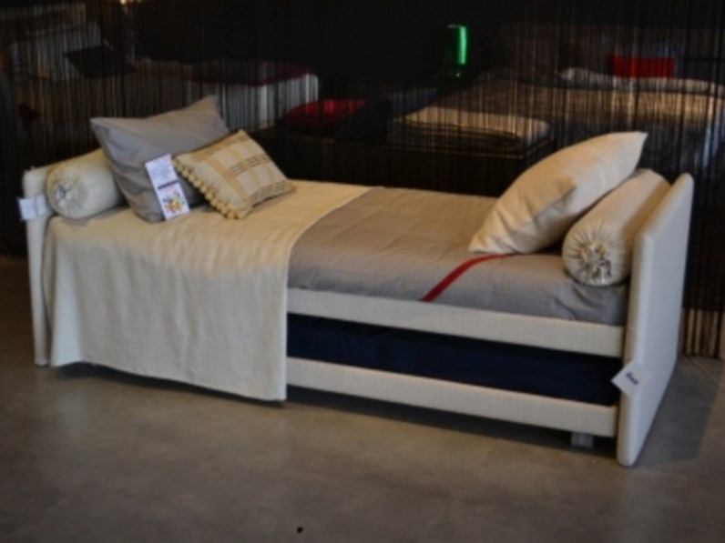 Letto flou l duetto for Letti flou outlet