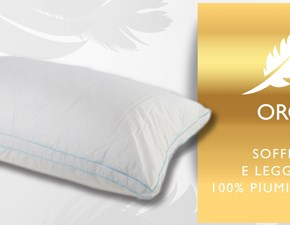 LETTO Guanciale piuma oro Puntopiuma home in OFFERTA OUTLET
