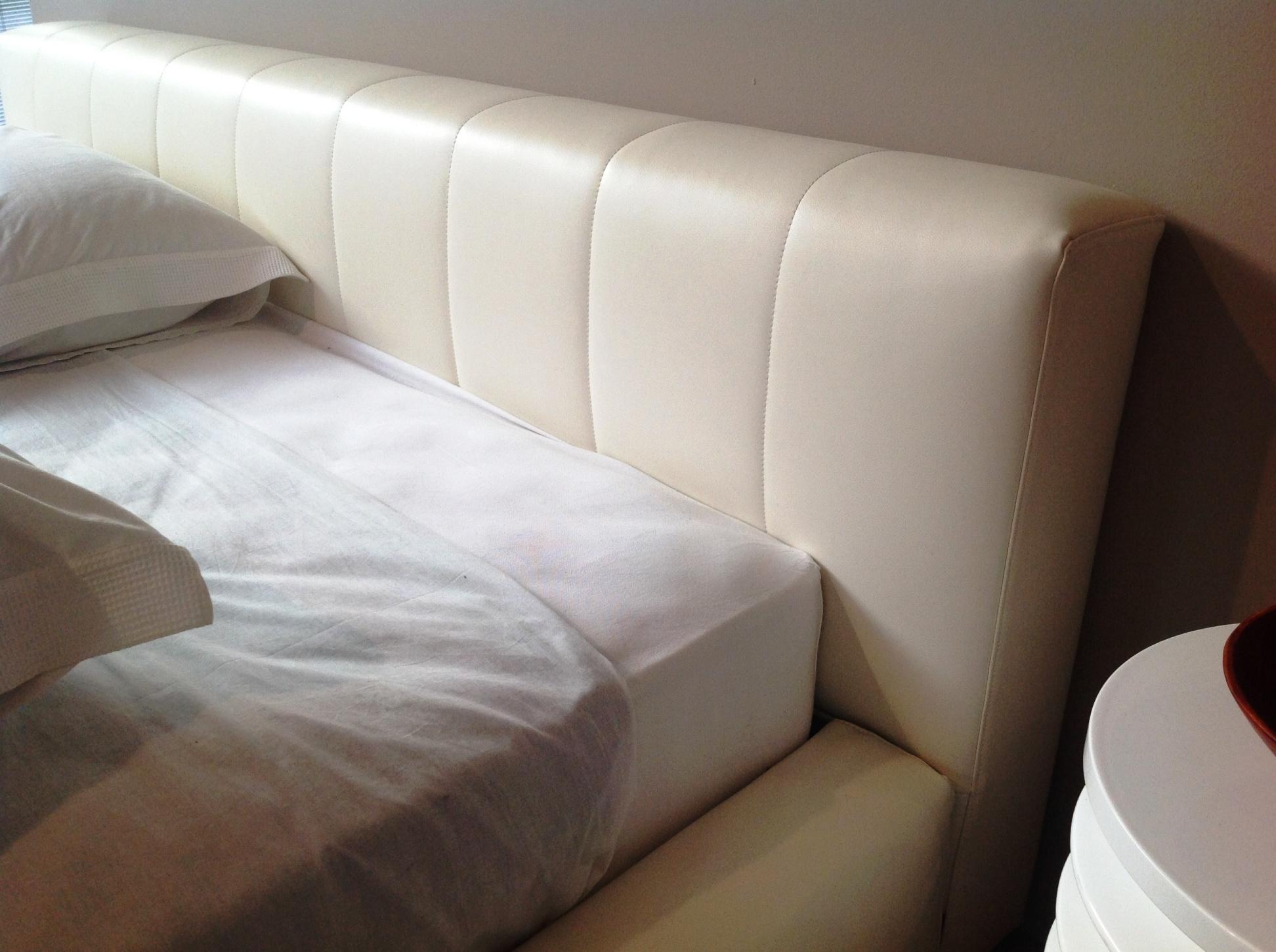 Letto harvest di cinova con rivestimento in ecopelle bianca sfoderabile letti a prezzi scontati - Cinova divani letto ...