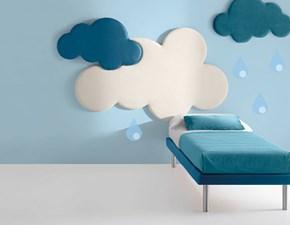 Letto imbottito con giroletto CloudSamoaa prezzo ribassato