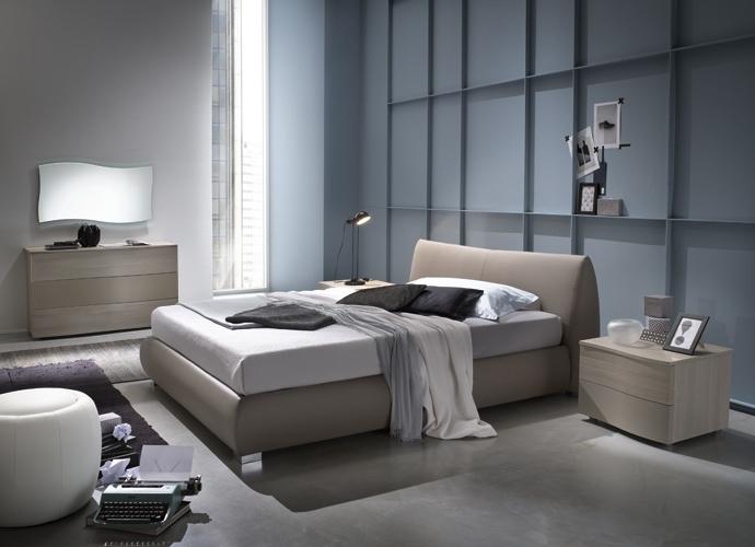 Letto contenitore grigio design casa creativa e mobili ispiratori - Letto contenitore design ...