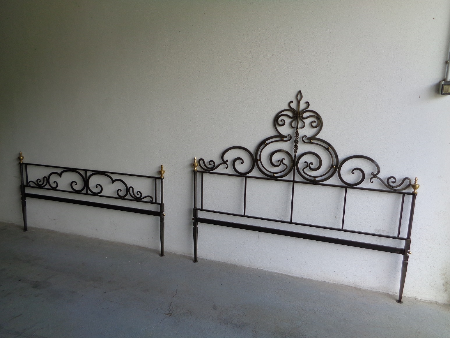 Letto in ferro battuto con finitura anticata - Letti a prezzi scontati